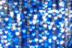 St. Fondo azul del corazón del día de tarjeta del día de San Valentín ilustración del vector