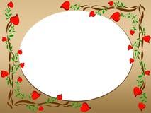 St. Fondo de la tarjeta del día de San Valentín Imagen de archivo libre de regalías