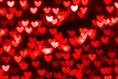 St Fondo rosso del cuore del giorno del biglietto di S. Valentino Immagini Stock Libere da Diritti