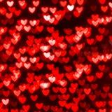 St fondo rosso del cuore di San Valentino Fotografia Stock Libera da Diritti
