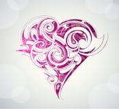 St Forma del cuore dei biglietti di S. Valentino Fotografie Stock Libere da Diritti