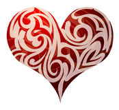 St Forma del cuore dei biglietti di S. Valentino Fotografie Stock