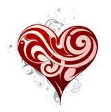 St Forme de coeur de Valentines Image libre de droits