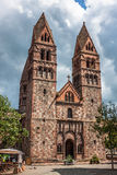 St. Foy Church in Selestat on a wine route of Alsace Stock Image