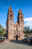 St. Foy Church in Selestat on a wine route of Alsace Royalty Free Stock Image
