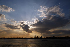 st för fästningnevapeter petersburg flod Arkivfoton