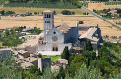 St. Francesco Basilica. Assisi. Umbria. Royalty Free Stock Photography