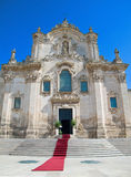 St. Francesco d'Assisi Church. Matera. Stock Image