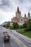 St. Francis of Assisi Church on Mexikoplatz on 7 May 2012 in Vienna, Austria. Royalty Free Stock Photo