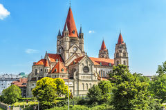 St. Francis of Assisi Church  in Vienna. St. Francis of Assisi Church (Kirche zum heiligen Franz von Assisi),  is a Basilica-style Catholic church in Vienna Royalty Free Stock Photography