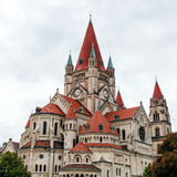 St. Francis of Assisi Church, Vienna Stock Photography