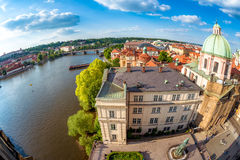St. Francis of Assisi Church and Vltava river. Prague, Czech Rep Stock Photography