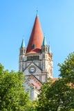 St Francis Assisi kościół, Wiedeń Obraz Royalty Free