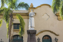 St. Francis of Assisi statue in Jujuy, Argentina. Stock Photos