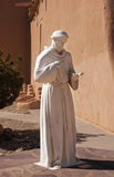St. Francis of Assisi statue. Outside the historic San Francisco de Assisi Mission Church in Rancho de Taos, New Mexico Stock Image
