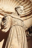 St. Francis of Assisi Statue in Palma de Mallorca Royalty Free Stock Photography