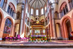 St Francis av den Assisi kyrkainre, Wien, Österrike royaltyfri bild