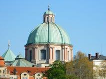 St Francis av den Assisi kyrkan, gammal stad, Prague Arkivbilder