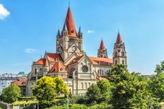 St Francis av den Assisi kyrkan i Wien royaltyfri fotografi