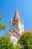St Francis av den Assisi kyrkan, Wien Arkivbild