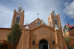 St. Francis Cathedral in Albuquerque Stock Photography