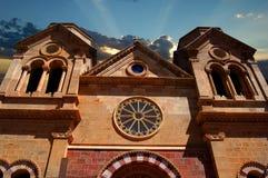St Francis Cathedral Basilica, Nouveau Mexique Images stock