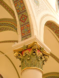 St. Francis Cathedral interior detail. Newly refurbished, the detailed painting of the interior of the historic St. Francis Cathedral in Santa Fe, New Mexico Stock Photos