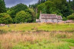 St Francis Church and Graveyard at Byrness Royalty Free Stock Photo