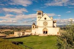 St Francis da igreja de Assisi fotos de stock royalty free