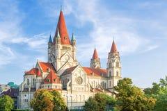 St Francis da igreja no Mexicoplatz, Viena de Assisi, Áustria Fotografia de Stock