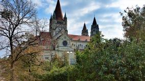 St Francis de la iglesia de Assisi, Viena imagenes de archivo