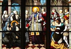 St Francis De Sprzedaż wręcza świętego Jeanne De Chantal fotografia royalty free