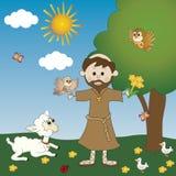 St Francis di Assisi Fotografia Stock Libera da Diritti