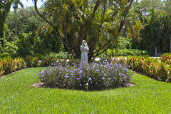 St. Francis in the Garden Stock Photos