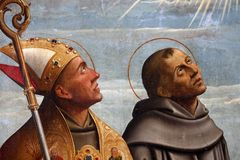 St Francis i St Bonaventure fotografia royalty free