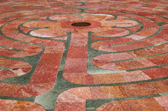 St. Francis Labyrinth Closeup Stock Photos