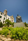 St.Francis monastery and the statue of king Petar Royalty Free Stock Photography