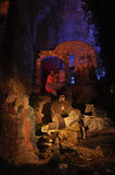 St Francis och födelse av Jesus Arkivfoton