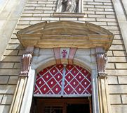 St Francis Seraphicus Church detail, Prague. Royalty Free Stock Images