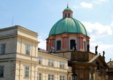 St Francis Seraphicus Church, Prague. Royalty Free Stock Images