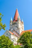 St Francis van de Kerk van Assisi, Wenen Stock Fotografie