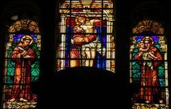 St Francis - verre souillé Images libres de droits