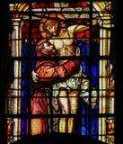 St Francis - verre souillé Image libre de droits