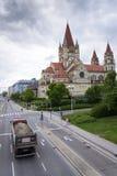 St Francis von Assisi-Kirche auf Mexikoplatz am 7. Mai 2012 in Wien, Österreich Lizenzfreies Stockfoto
