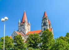 St Francis von Assisi-Kirche, Wien Stockfoto