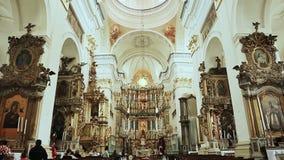 St Francis Xavier Cathedral är en Roman Catholic Church i Grodno arkivfilmer