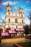 St. Francis Xavier Cathedral, Grodno. St. Francis Xavier Cathedral is a Roman Catholic cathedral in Grodno, Belarus. Originally a Jesuit church, it became a Stock Image