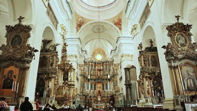 St. Francis Xavier Cathedral ist Roman Catholic Church in Grodno stock footage