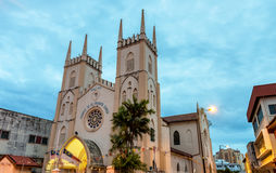 St Francis Xavier Church i Malacca, Malaysia royaltyfria foton