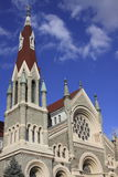 St. Francis Xavier Church, Philadelphia, PA. With blue sky and clouds Royalty Free Stock Photography